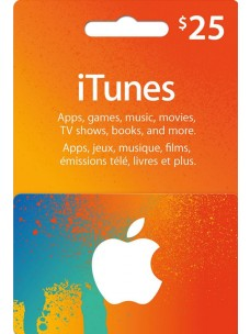 USD 25 Apple iTunes Gift Card for US Store