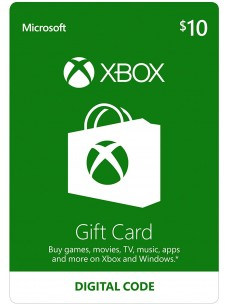 USD 10 Xbox Live Gift Card