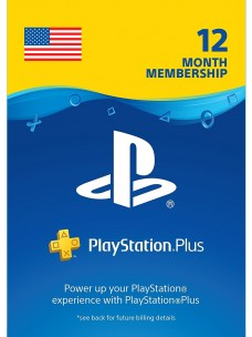 PlayStation Plus 12 Month PS+ Card PSN - [US]